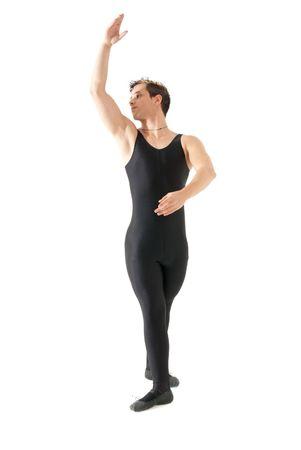 ballet hombres: Joven bailar ballet aislado sobre fondo blanco, retrato de longitud completa. Foto de archivo