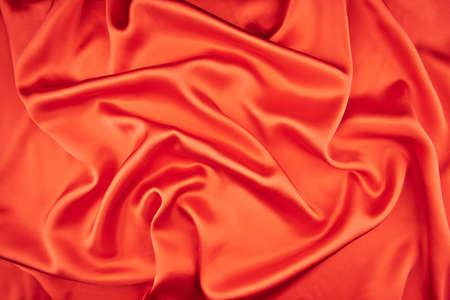 red silk fabric background Stock Photo - 19638930