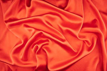 red silk fabric background Stock Photo - 19638930