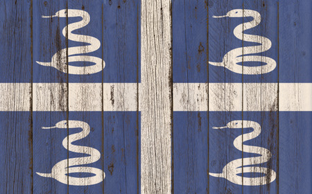 martinique: Martinique Flag on wood background
