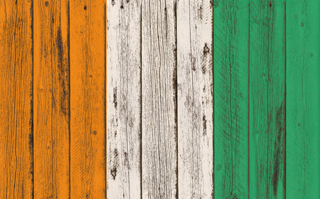 te: Flag of C�te dIvoire painted on wooden frame Stock Photo