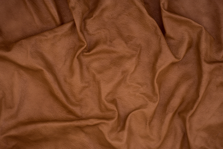 Natural brown leather texture. Abstract background, empty template. Stok Fotoğraf