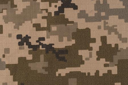 Universal camouflage pattern army combat uniform digital camo. Top view. Фото со стока