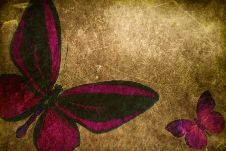 abstract background with colored butterflies photo