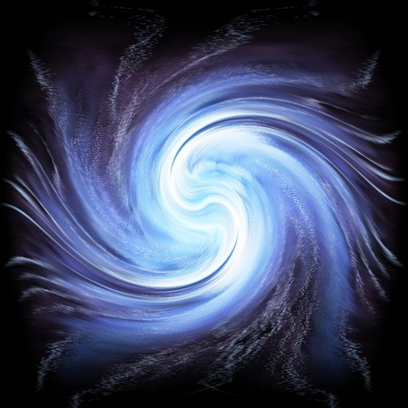 galactic: Beautiful abstract blue twirl  galactic Stock Photo
