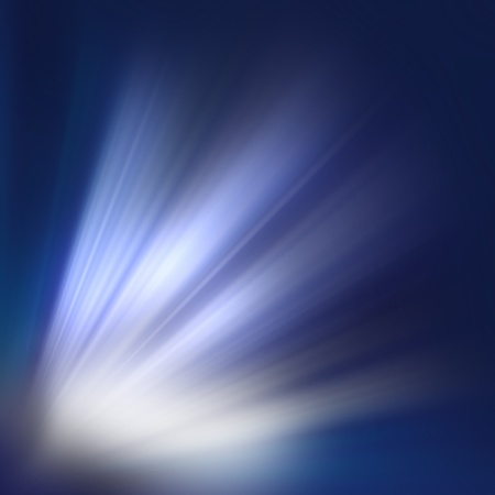 an abstract background is a white flash and rays dark blue