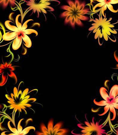 flamboyant: vintage floral background Stock Photo