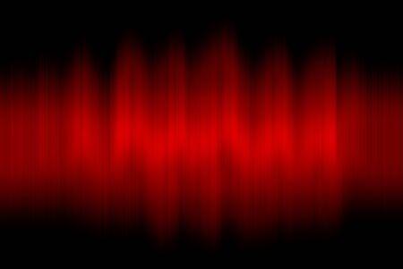 Sound waves oscillating on black background Stock Photo - 12891497