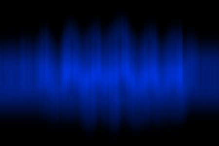 Sound waves oscillating on black background Stock Photo - 12891496