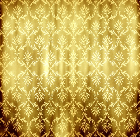 abstract golden floral retro wallpaper