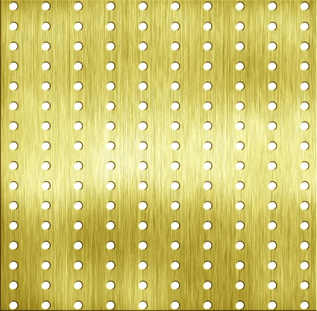 diamond plate: abstract template golden metal texture with rivet