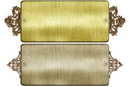 oxidated: metal de signo en el fondo blanco aislado