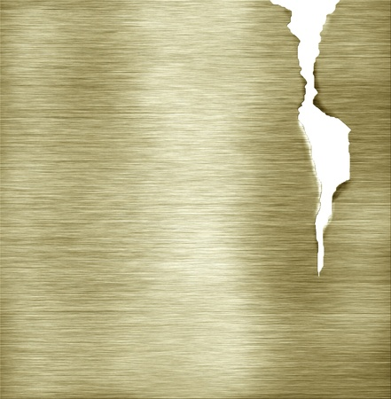 goldish: cracked template brass metal texture Stock Photo