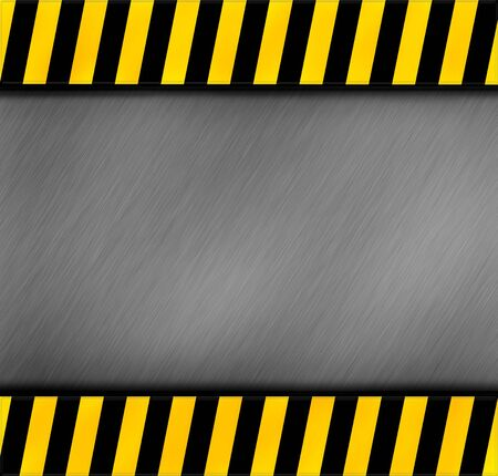metal warning template for you project Stock Photo - 12951549