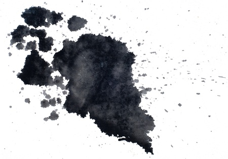smirch: Paint splashes on white background  Stock Photo