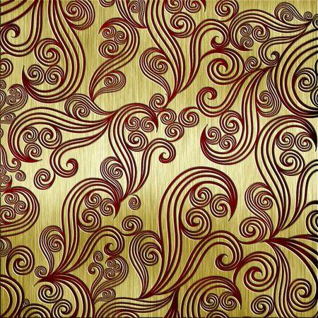 abstract template golden metal texture Stock Photo - 12951383