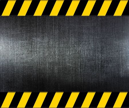 metal warning template for you project Stock Photo - 12951452