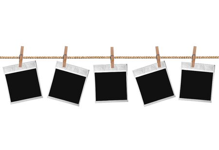 Old Film Blanks Hanging on a Rope photo