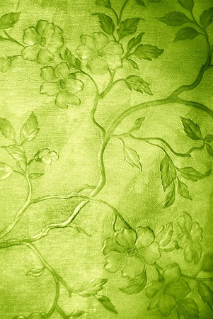 green floral grunge wallpaper on leather texture Stock Photo - 12951389