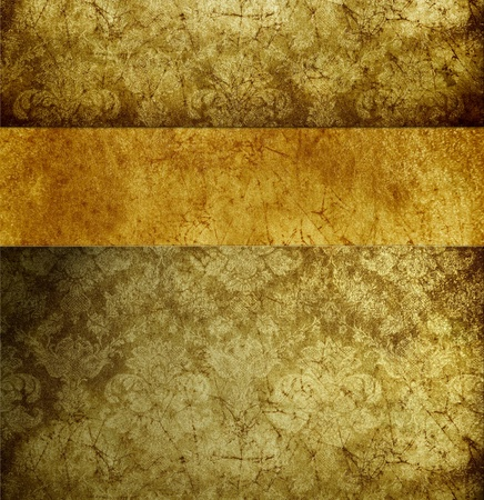 absract retro gold flourish classical template Stock Photo