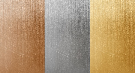 platinum background: Natural aluminum bronze and brass scratched textures