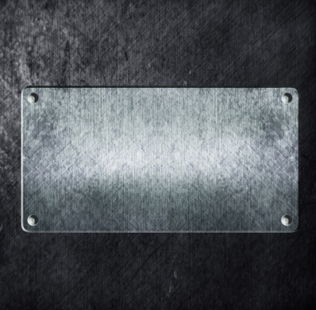 metal sign: metal sign on metal aluminum texture