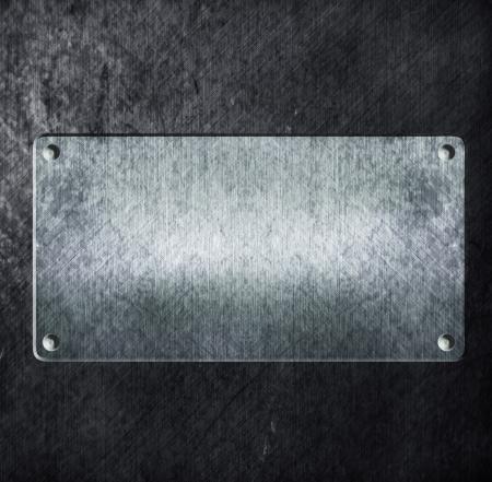 brushed aluminium: metal sign on metal aluminum texture