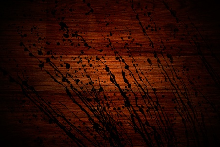 grunge old cherry parquet texture with paint splash photo
