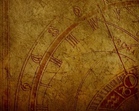 orologi antichi: Abstract sfondo con orologio antico e copyspace