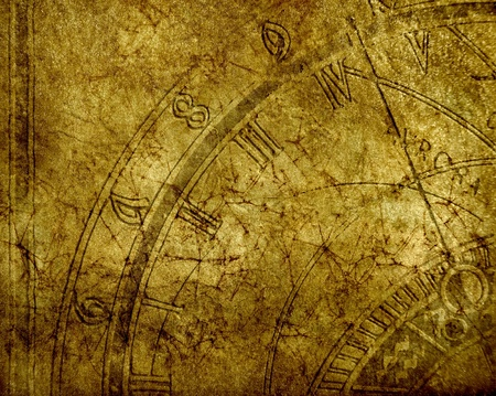 Abstract background with antique clock and copyspace photo