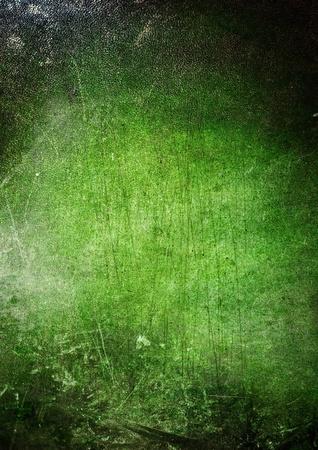 geen: green grunge dark leather texture Stock Photo