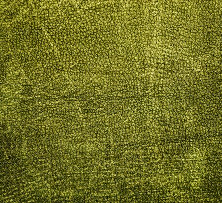 Natural qualitative green leather texture  Close up  photo