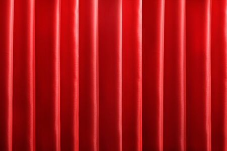 Old red theatre of curtain  photo
