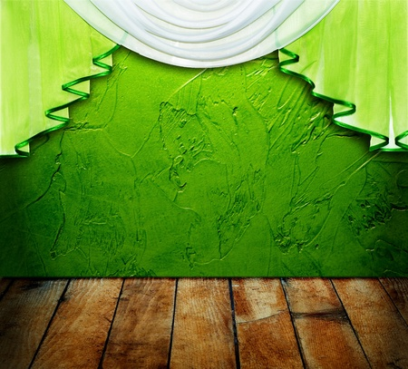 Grand opening showroom with decorative pattern wall  photo