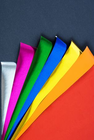 colorful foil on black background Stock Photo - 13053610
