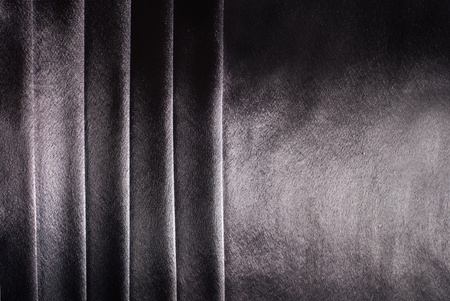 drape: gray satin background with stripes Stock Photo