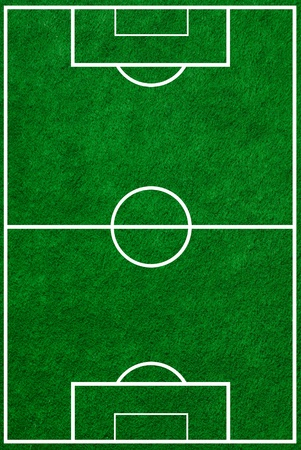 football field  top view with proper markings photo