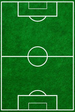 soccerfield: voetbalveld bovenaanzicht met de juiste markeringen