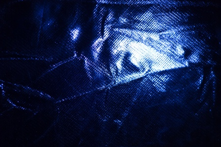 dark blue crumpled fabric of closeup Stock Photo - 13053564