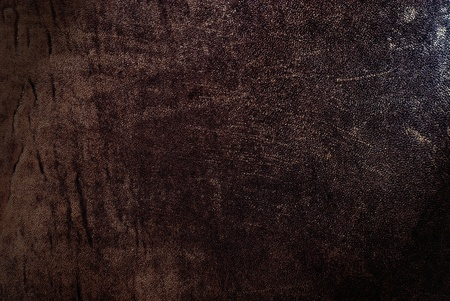 Natural qualitative brown leather texture. Close up. photo