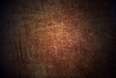 Natural qualitative golden leather texture. Close up. photo