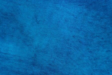 Natural qualitative blue leather texture. Close up. photo