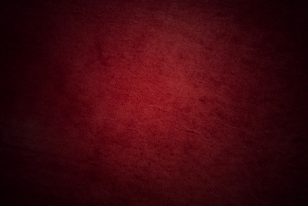 Natural qualitative red leather texture. Close up.