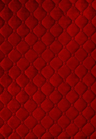 red  picture of genuine leather upholstery Stock Photo