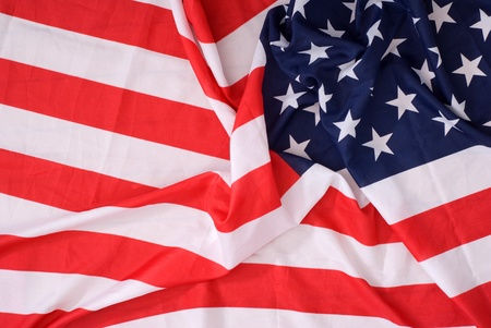 american crumpled flag of close up photo