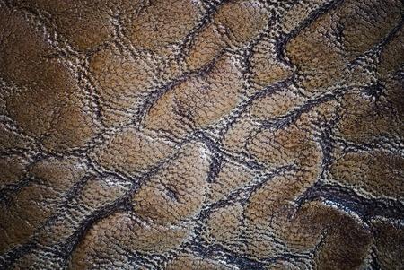 dark golden leather of texture photo
