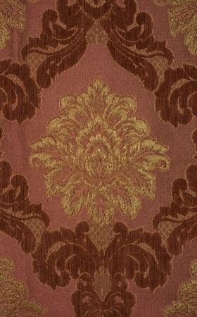 luxurious background: Vintage fabric with large roses background Stock Photo