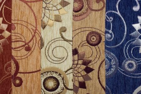 tejido de lana: Tejido de flores de tela ver gran colecci�n Foto de archivo
