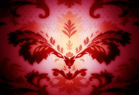 Modern seamless composition in damask baroque style photo