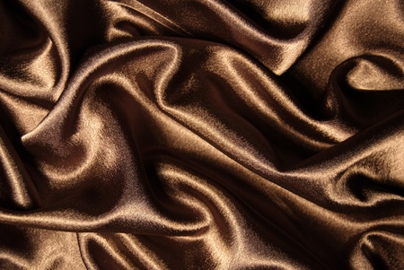 fabrick: abstract fabrick wavy brown silk